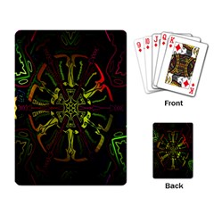 Inner Peace Star Space Rainbow Playing Card by Mariart