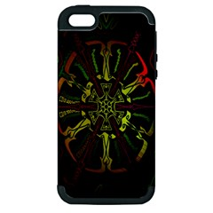 Inner Peace Star Space Rainbow Apple Iphone 5 Hardshell Case (pc+silicone) by Mariart