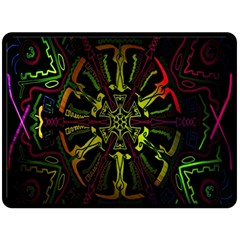 Inner Peace Star Space Rainbow Double Sided Fleece Blanket (large)  by Mariart