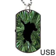Hole Space Silver Black Dog Tag Usb Flash (two Sides) by Mariart