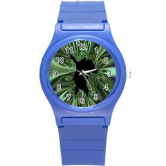 Hole Space Silver Black Round Plastic Sport Watch (s) by Mariart