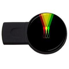 Lamp Colors Green Yellow Red Black Usb Flash Drive Round (2 Gb) by Mariart