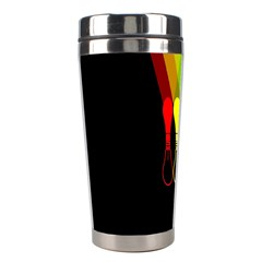 Lamp Colors Green Yellow Red Black Stainless Steel Travel Tumblers by Mariart