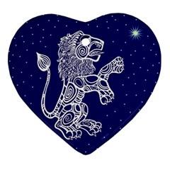 Leo Zodiac Star Ornament (heart) by Mariart