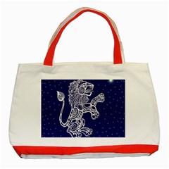 Leo Zodiac Star Classic Tote Bag (red) by Mariart