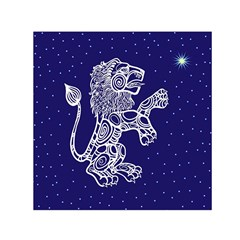 Leo Zodiac Star Small Satin Scarf (square) by Mariart