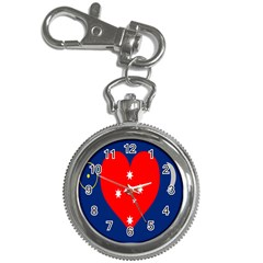Love Heart Star Circle Polka Moon Red Blue White Key Chain Watches by Mariart