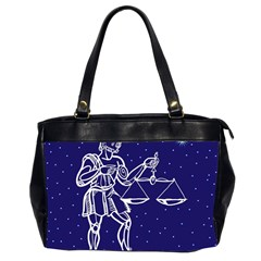 Libra Zodiac Star Office Handbags (2 Sides)  by Mariart