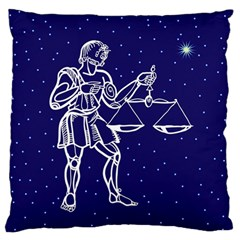 Libra Zodiac Star Standard Flano Cushion Case (one Side) by Mariart