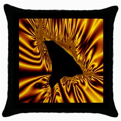 Hole Gold Black Space Throw Pillow Case (black) by Mariart