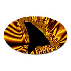 Hole Gold Black Space Oval Magnet by Mariart