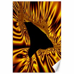 Hole Gold Black Space Canvas 20  X 30   by Mariart