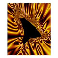 Hole Gold Black Space Shower Curtain 60  X 72  (medium)  by Mariart