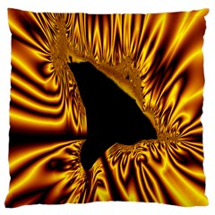 Hole Gold Black Space Large Cushion Case (two Sides) by Mariart