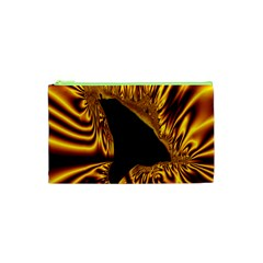 Hole Gold Black Space Cosmetic Bag (xs) by Mariart