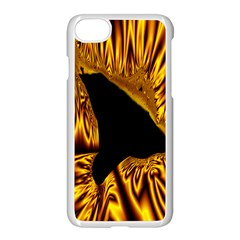 Hole Gold Black Space Apple Iphone 7 Seamless Case (white) by Mariart