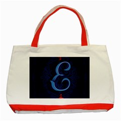 Marquis Love Dope Lettering Blue Red Alphabet E Classic Tote Bag (red) by Mariart