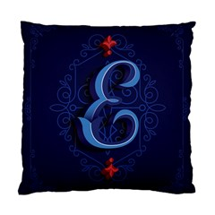 Marquis Love Dope Lettering Blue Red Alphabet E Standard Cushion Case (one Side) by Mariart