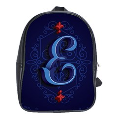 Marquis Love Dope Lettering Blue Red Alphabet E School Bags(large)  by Mariart