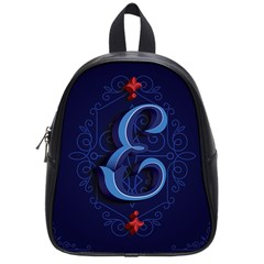 Marquis Love Dope Lettering Blue Red Alphabet E School Bags (small)  by Mariart