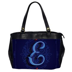 Marquis Love Dope Lettering Blue Red Alphabet E Office Handbags (2 Sides)  by Mariart