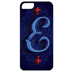 Marquis Love Dope Lettering Blue Red Alphabet E Apple Iphone 5 Classic Hardshell Case by Mariart