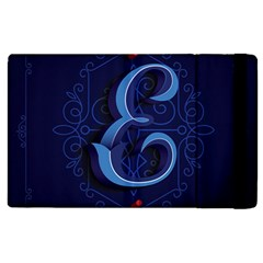 Marquis Love Dope Lettering Blue Red Alphabet E Apple Ipad 2 Flip Case by Mariart