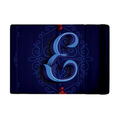 Marquis Love Dope Lettering Blue Red Alphabet E Apple Ipad Mini Flip Case by Mariart