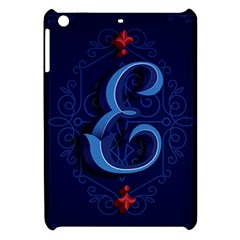 Marquis Love Dope Lettering Blue Red Alphabet E Apple Ipad Mini Hardshell Case by Mariart