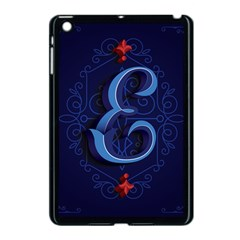 Marquis Love Dope Lettering Blue Red Alphabet E Apple Ipad Mini Case (black) by Mariart