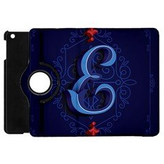 Marquis Love Dope Lettering Blue Red Alphabet E Apple Ipad Mini Flip 360 Case by Mariart