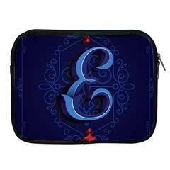 Marquis Love Dope Lettering Blue Red Alphabet E Apple Ipad 2/3/4 Zipper Cases by Mariart