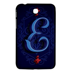Marquis Love Dope Lettering Blue Red Alphabet E Samsung Galaxy Tab 3 (7 ) P3200 Hardshell Case  by Mariart