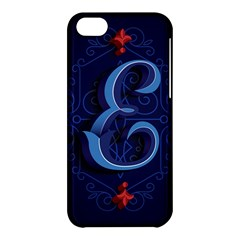 Marquis Love Dope Lettering Blue Red Alphabet E Apple Iphone 5c Hardshell Case by Mariart