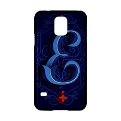 Marquis Love Dope Lettering Blue Red Alphabet E Samsung Galaxy S5 Hardshell Case  by Mariart