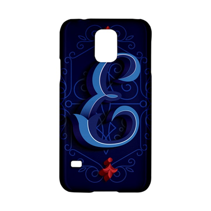 Marquis Love Dope Lettering Blue Red Alphabet E Samsung Galaxy S5 Hardshell Case