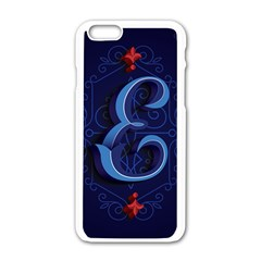 Marquis Love Dope Lettering Blue Red Alphabet E Apple Iphone 6/6s White Enamel Case by Mariart
