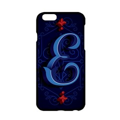 Marquis Love Dope Lettering Blue Red Alphabet E Apple Iphone 6/6s Hardshell Case by Mariart