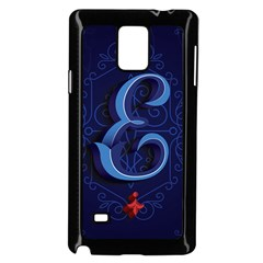 Marquis Love Dope Lettering Blue Red Alphabet E Samsung Galaxy Note 4 Case (black) by Mariart