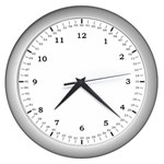The Learning Clock - Wall Clock (Silver)