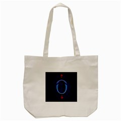 Marquis Love Dope Lettering Blue Red Alphabet O Tote Bag (cream) by Mariart