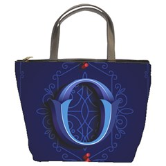 Marquis Love Dope Lettering Blue Red Alphabet O Bucket Bags by Mariart