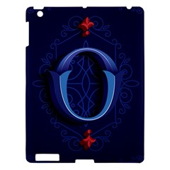 Marquis Love Dope Lettering Blue Red Alphabet O Apple Ipad 3/4 Hardshell Case by Mariart