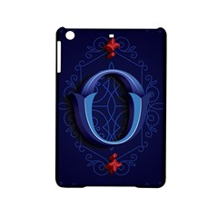 Marquis Love Dope Lettering Blue Red Alphabet O Ipad Mini 2 Hardshell Cases by Mariart