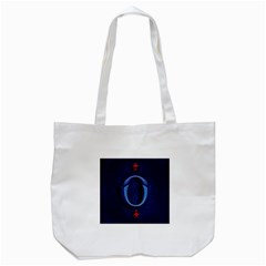 Marquis Love Dope Lettering Blue Red Alphabet O Tote Bag (white) by Mariart