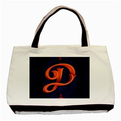 Marquis Love Dope Lettering Blue Red Orange Alphabet P Basic Tote Bag by Mariart
