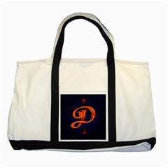 Marquis Love Dope Lettering Blue Red Orange Alphabet P Two Tone Tote Bag by Mariart
