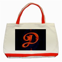 Marquis Love Dope Lettering Blue Red Orange Alphabet P Classic Tote Bag (red) by Mariart