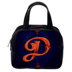 Marquis Love Dope Lettering Blue Red Orange Alphabet P Classic Handbags (one Side) by Mariart