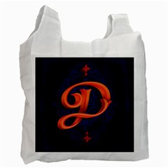 Marquis Love Dope Lettering Blue Red Orange Alphabet P Recycle Bag (two Side)  by Mariart